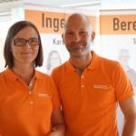 Karolina Enström och Andreas Einarsson från Hemab.