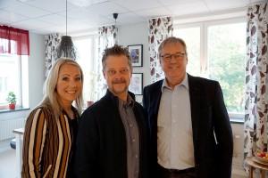 Jenny Horn, Svensk Handel, Henrik Skyttberg, Handelsplats Härnösand och Ulf Hamrén, Härnösands Handelsförening ser fram emot ett tätare samarbete.