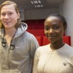 Oliver Ivarsson och Barebe Niringiyimana fick ännu mer insikt om hur viktigt det är att ha en schyst attityd i arbetslivet.