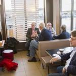 Politikerna i kommunstyrelsens arbetsutskott fick höra om McDonalds historia i Härnösand, från starten 1999 via branden 2013 och till dagens läge.